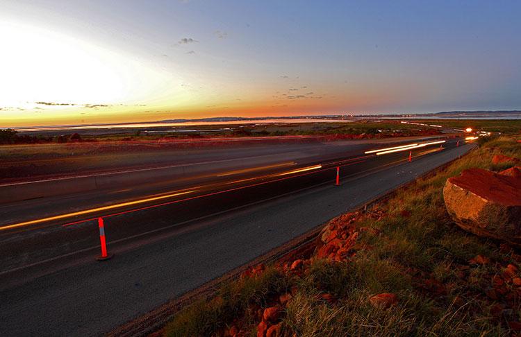 Road Management on Dampier Highway by Highways Traffic
