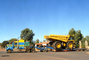 Traffic control for heavy loads and heavy haulage