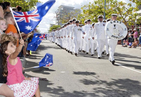Highways Traffic providing traffic management for ANZAC Day March for the City of Rockingham